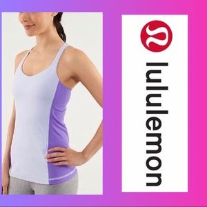 Lululemon Free to Be Tank Top Purple/Cool Breeze 6